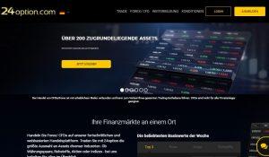 Webseite von 24option.com/eu/de/