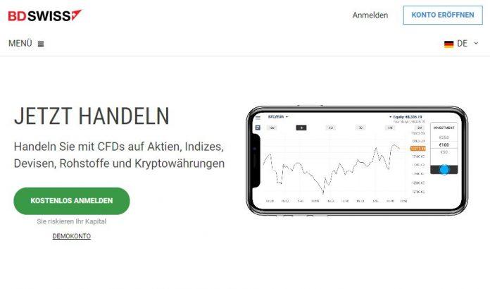 Webseite von eu.bdswiss.com/de/