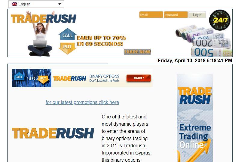 Webseite von traderushonline.com