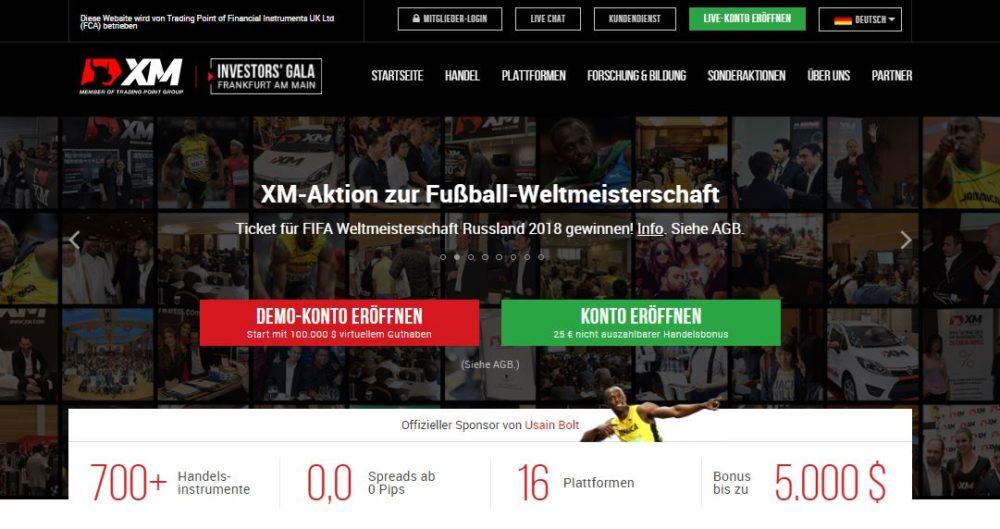 Webseiten von xm.com/de/