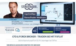 Webseite von fxflat.com/de/