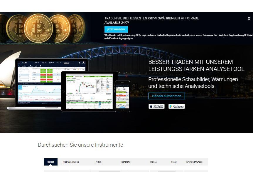 XTrade Webseite